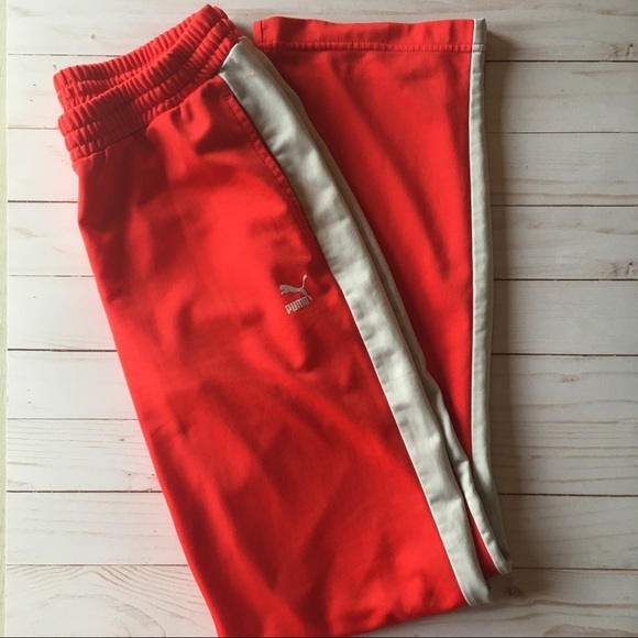 beauty luxury aesthetic online store Red Puma Sweatpants